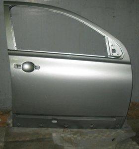 NISSAN QASHQAI +2  дверь- СЕРЕБРО передня правая