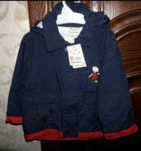 Новая куртка осень-весна с капюшоном