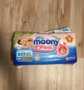 Подгузники moony для малышей до 3 кг