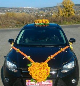 Свадебные украшения Авто