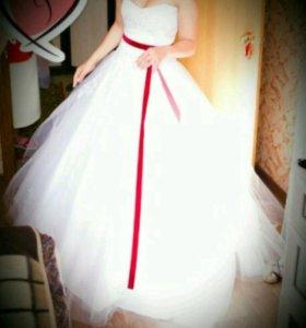 Свадебное платье + фата + диадема!