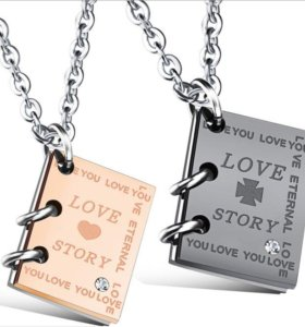 Парные кулоны Love story