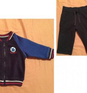 Утеплённые кофта и штанишки М&S