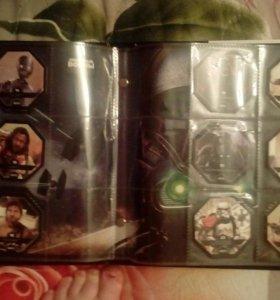36 космо жетонов +альбом. Срочно продаю!!!
