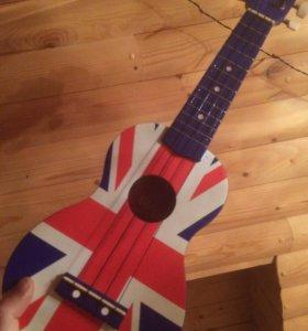Укулеле с Британским флагом