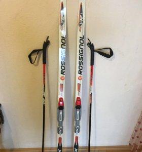 Лыжи беговые и палки