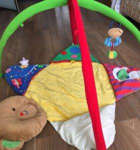 Развивающий коврик k's kids + дуга tiny love