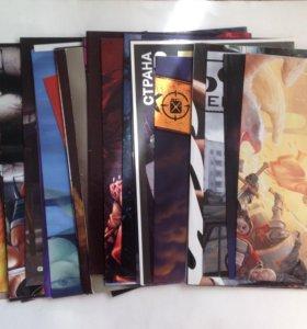 Постеры из журналов про игры (37 шт)