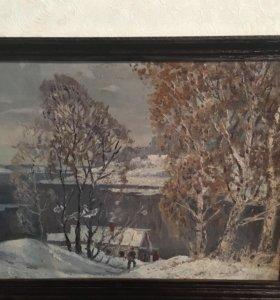 "Картина ""По первому снегу"""
