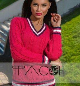 Яркий и стильный свитер