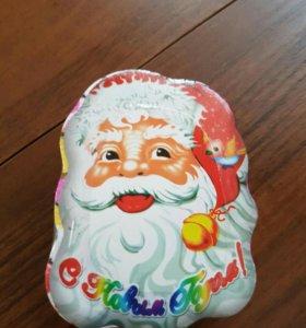 Прессованное полотенце Дед Мороз