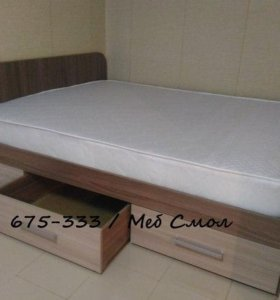 Новая двуспальная кровать с ящиками