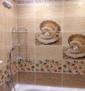 Укладка плитки, ремонт ванных комнат, квартир.