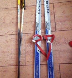 Лыжи пластик,с палками