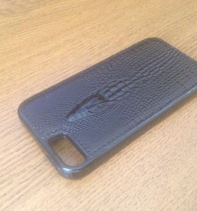 Чехол на IPhone 5/5S/SE кож.зам чёрный новый