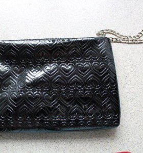 Mary Kay сумка - клатч черная с сердечками