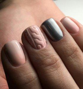 Покрытие гель лаком, наращивание ногтей