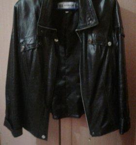 Куртка женская кожаная 46р