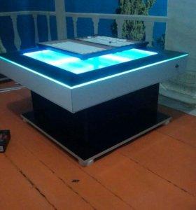 Журнальный столик с 3D эффектом.