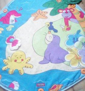 Развивающий коврик.три игрушки,две дуги.
