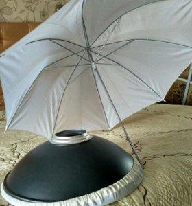 Зонт и тарелка