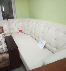 Новый угловой диван с креслом