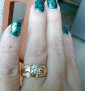 Кольцо женское. Как золото размер 18
