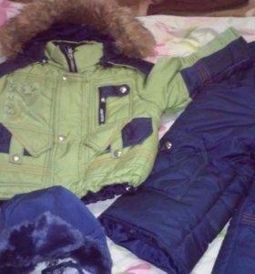 Продам куртку,шапку и комбинезон