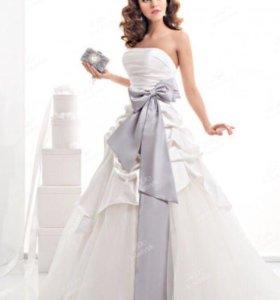 Пояс НОВЫЙ серый, для свадебного и вечернего