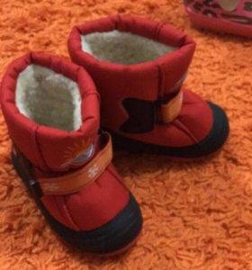 Зимнии ботинки . Размер 23-24