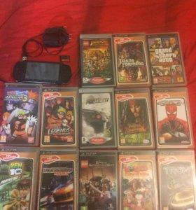 PSP прошитая и 13 игр!