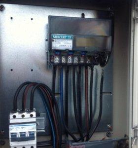 Замена электросчетчиков, автоматов