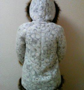 Дубленка натуральная мех горной касули на девочку