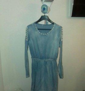 Джинсовое платье!!!
