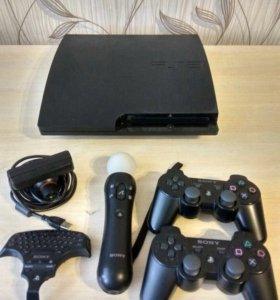 PS3+15 игр. Playstation 3 slim