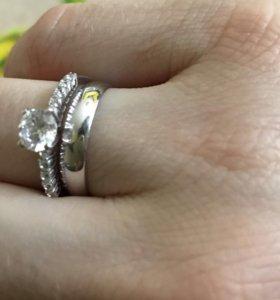 Кольцо серебро/ фианит