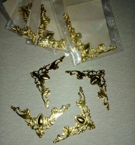 Набор уголков (филигрань-золото)