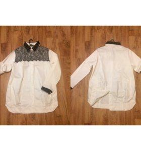 Белые рубашки удлинённые