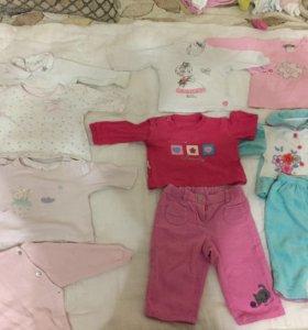 Пакет одежды для малышек 0-6 и больше.