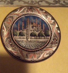Тарелка медь коллекционная Турция