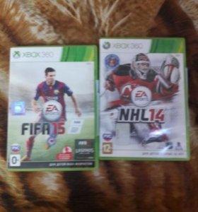 Продам Fifa 15 и Nhl 14 на xbox 360