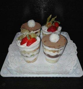 Капкейки, трайфлы, десерты