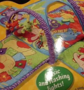 Игровой развивающий коврик-туннуль
