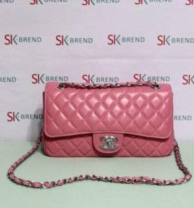 Chanel classic розовая  кожа