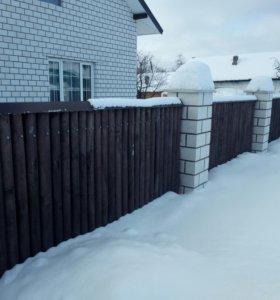Забор из оциллиндровки