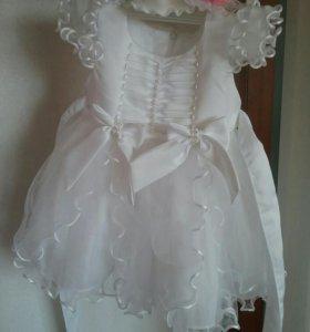 Продаю шикарное белое платье, для принцессы!)