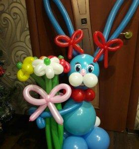 Фигуры из шаров. воздушные шары