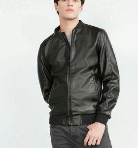 Куртка Бомбер  Zara кожаная новая