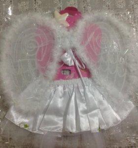 КН ангелочка ( юбка с рюшами, крылья, палочка)