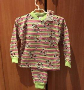 Пижама детская новая,утеплённая